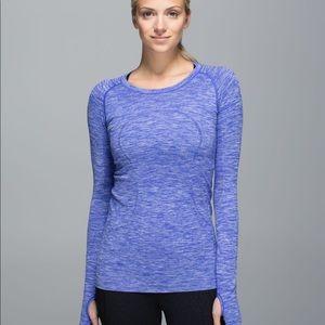 Lululemon Swiftly Tech Long Sleeve in Heather Blue